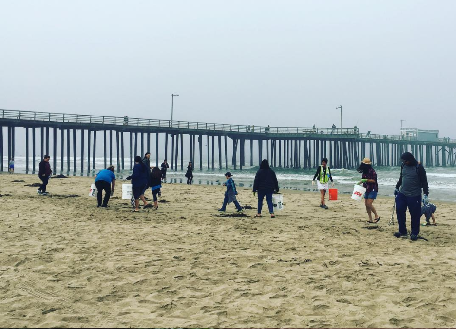 Earth Day Beach Cleanup at Pismo Pier